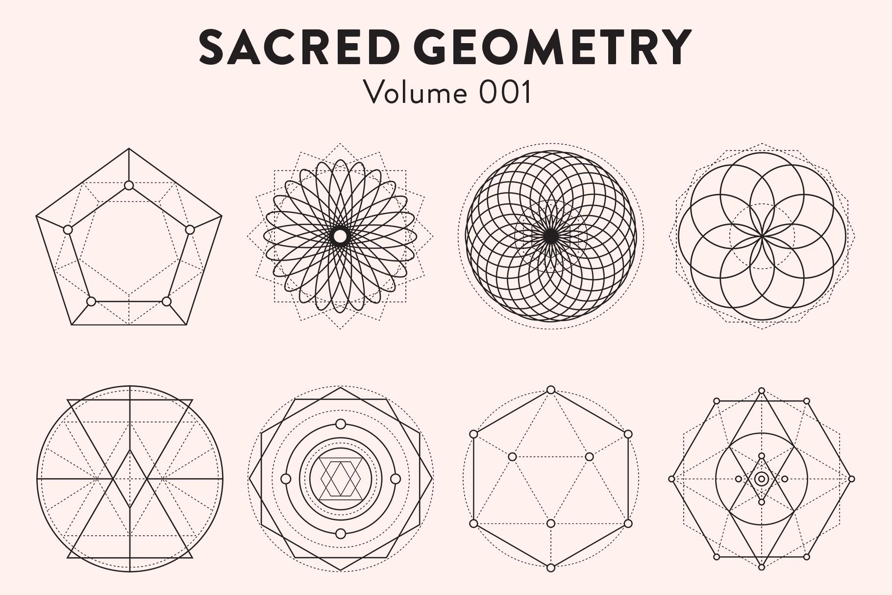 Sacred Geometry Vectors Volume 001 example image 4