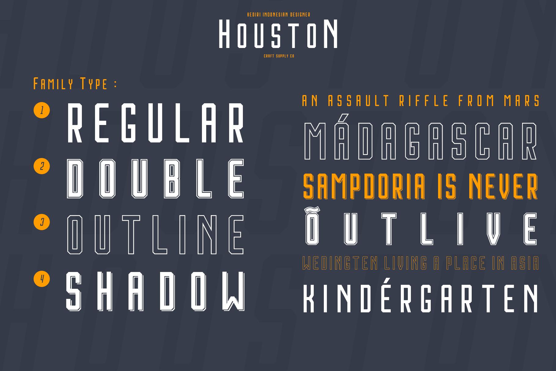 Houston Font Family example image 6