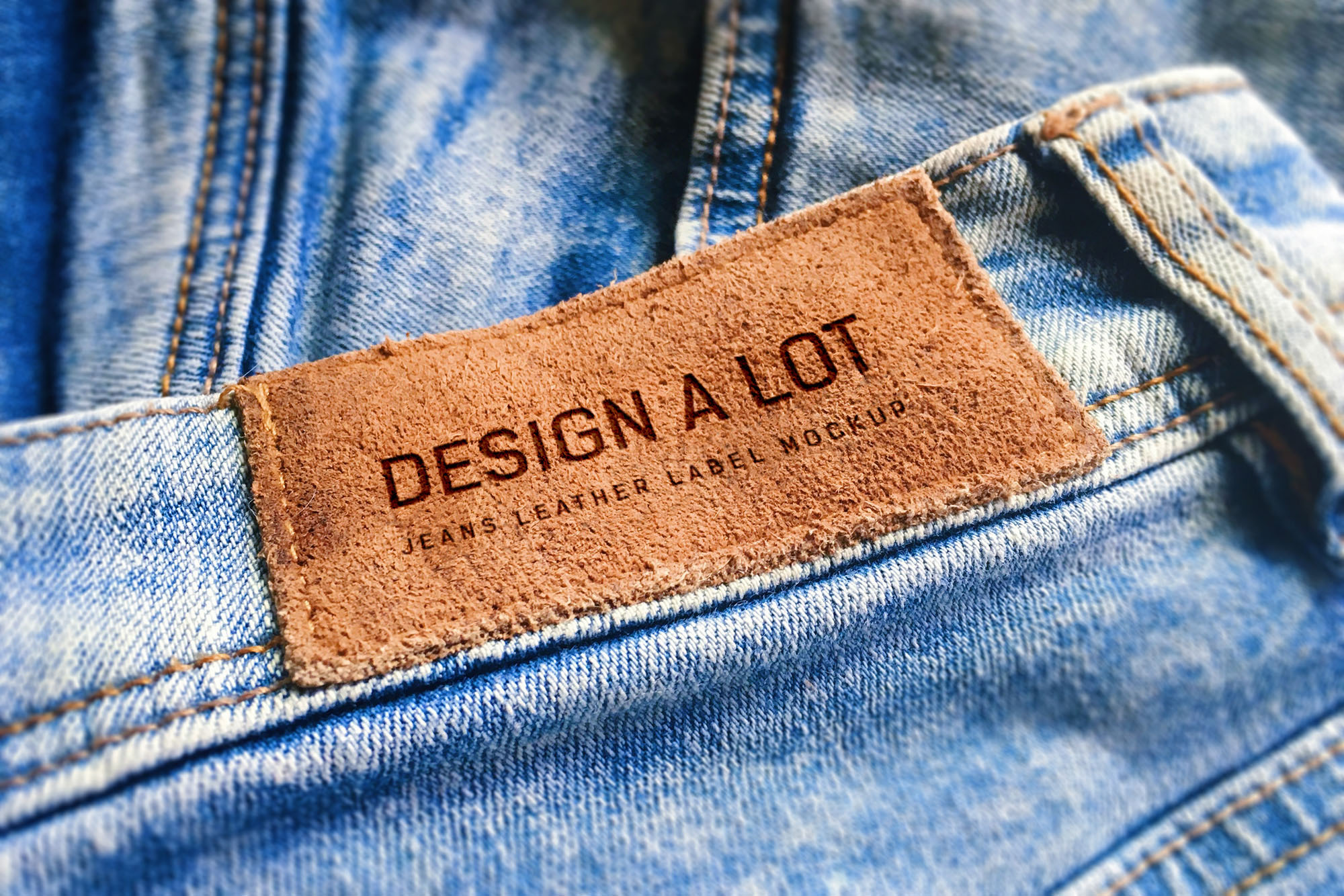 Engraved Brown Leather Label example image 1
