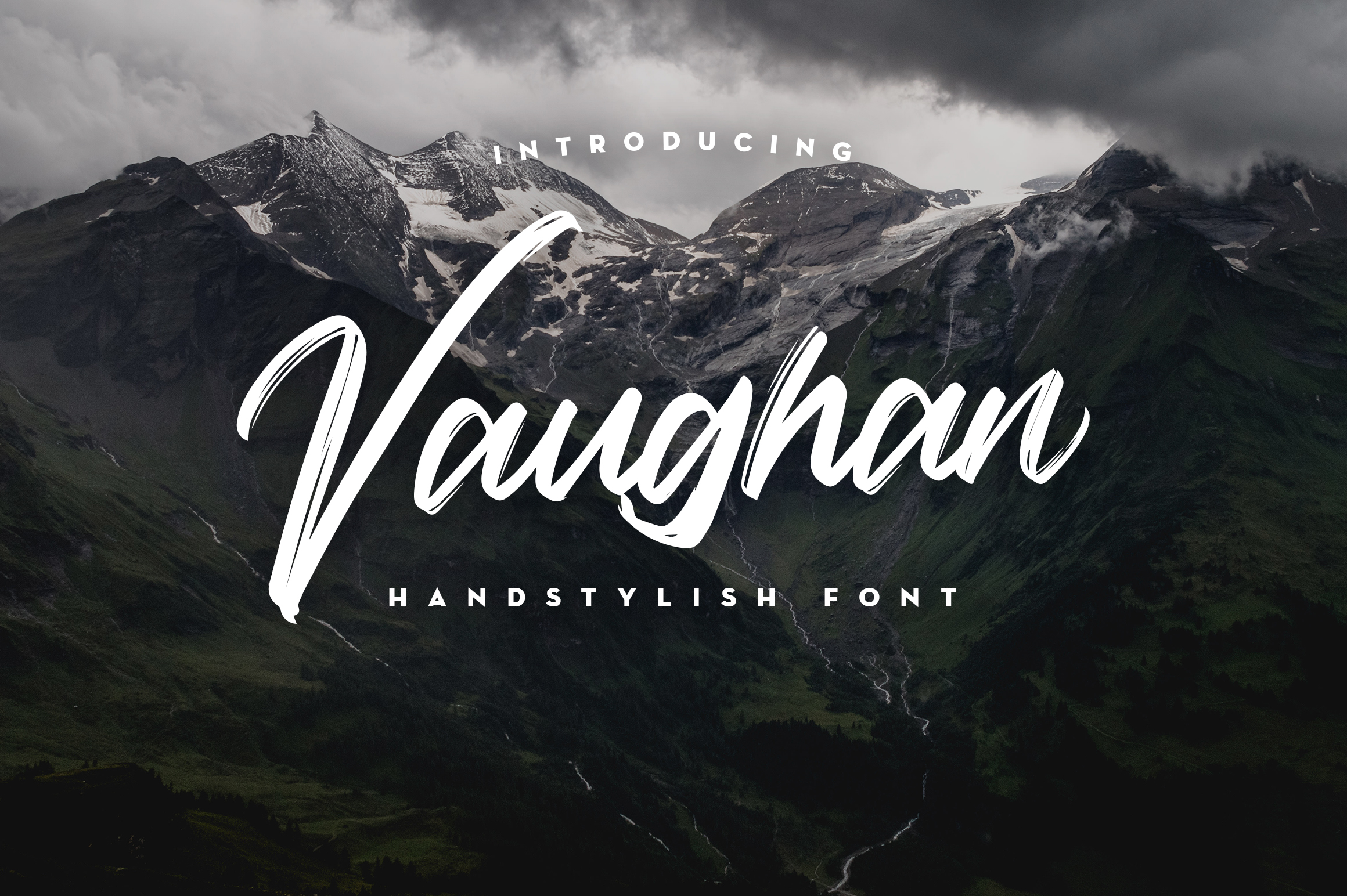 Vaughan Handstylish Font example image 1