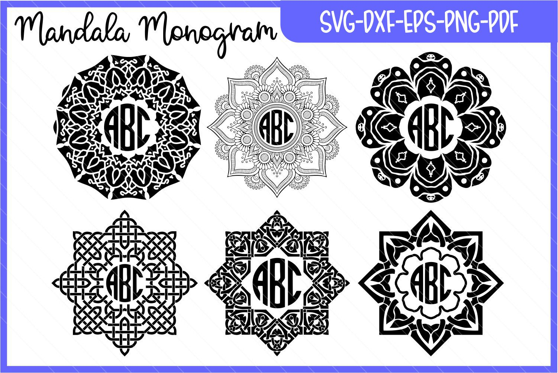 monogram mandala, monogram, monogram svg, mandala svg example image 6