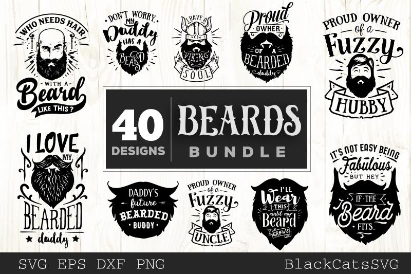 Beards SVG bundle 40 designs example image 2