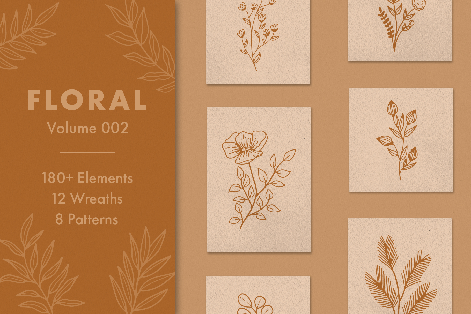 Floral Vector Elements Volume 002 example image 1