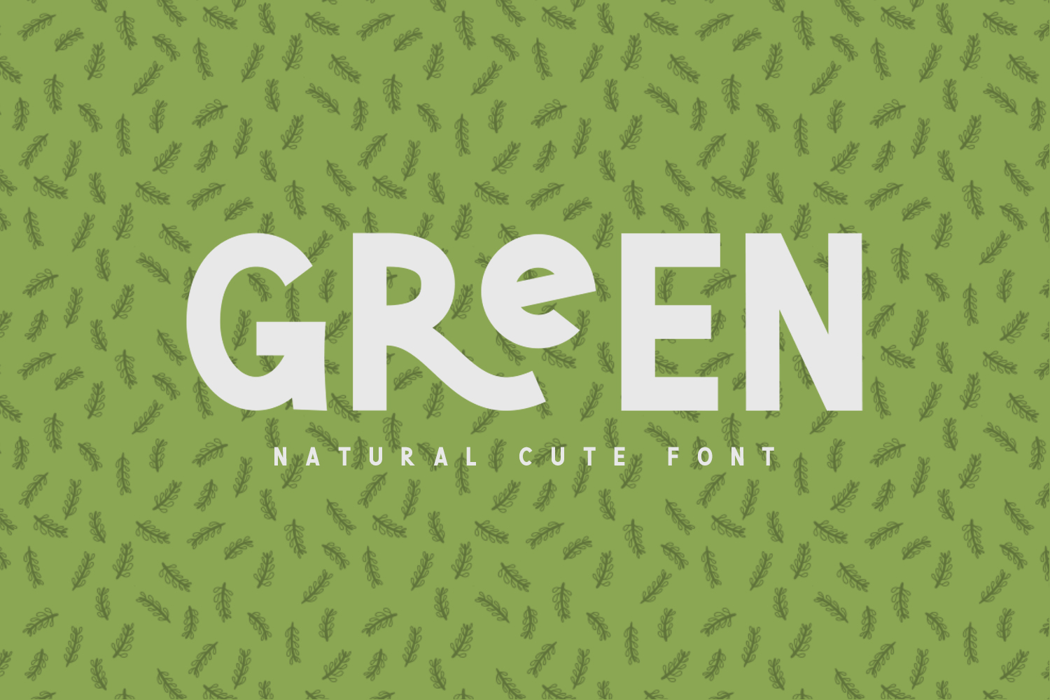 Green | Natural Cute Font example image 1