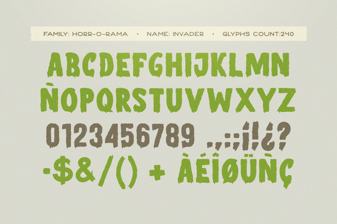 Invader Scary Font example image 3