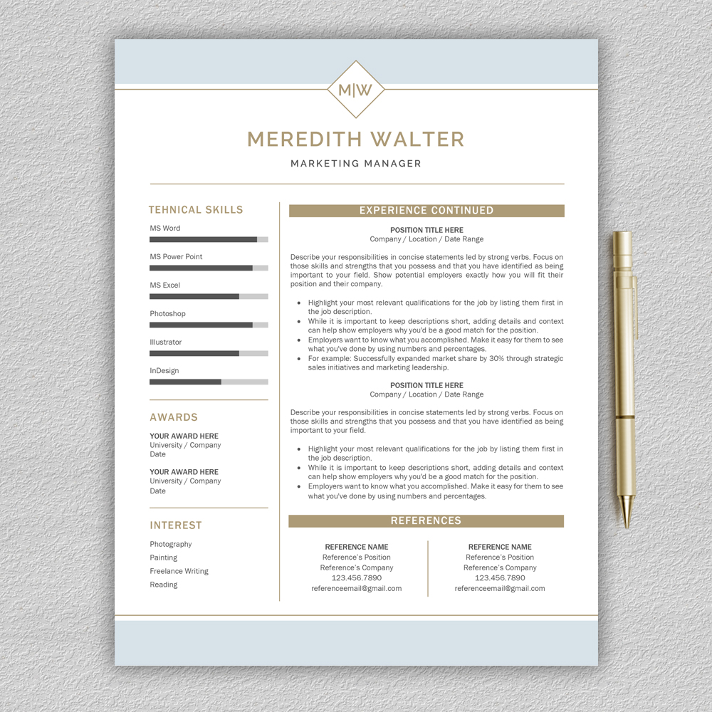 Resume Template / CV Templates, Professional Resume Template example image 3