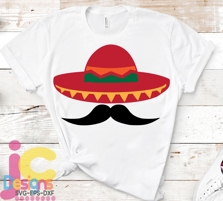 Cinco de Mayo Svg Sombrero and Mustache Svg Sombrero Svg example image 2