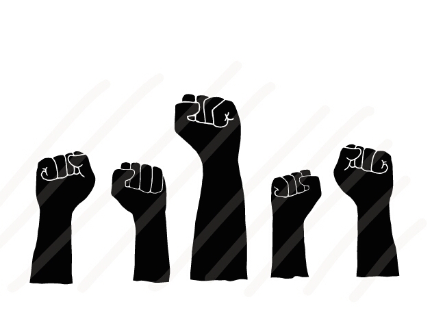 Power of Team - Hands Up to fight - SVG/JPG/PNG Hand Drawing example image 1