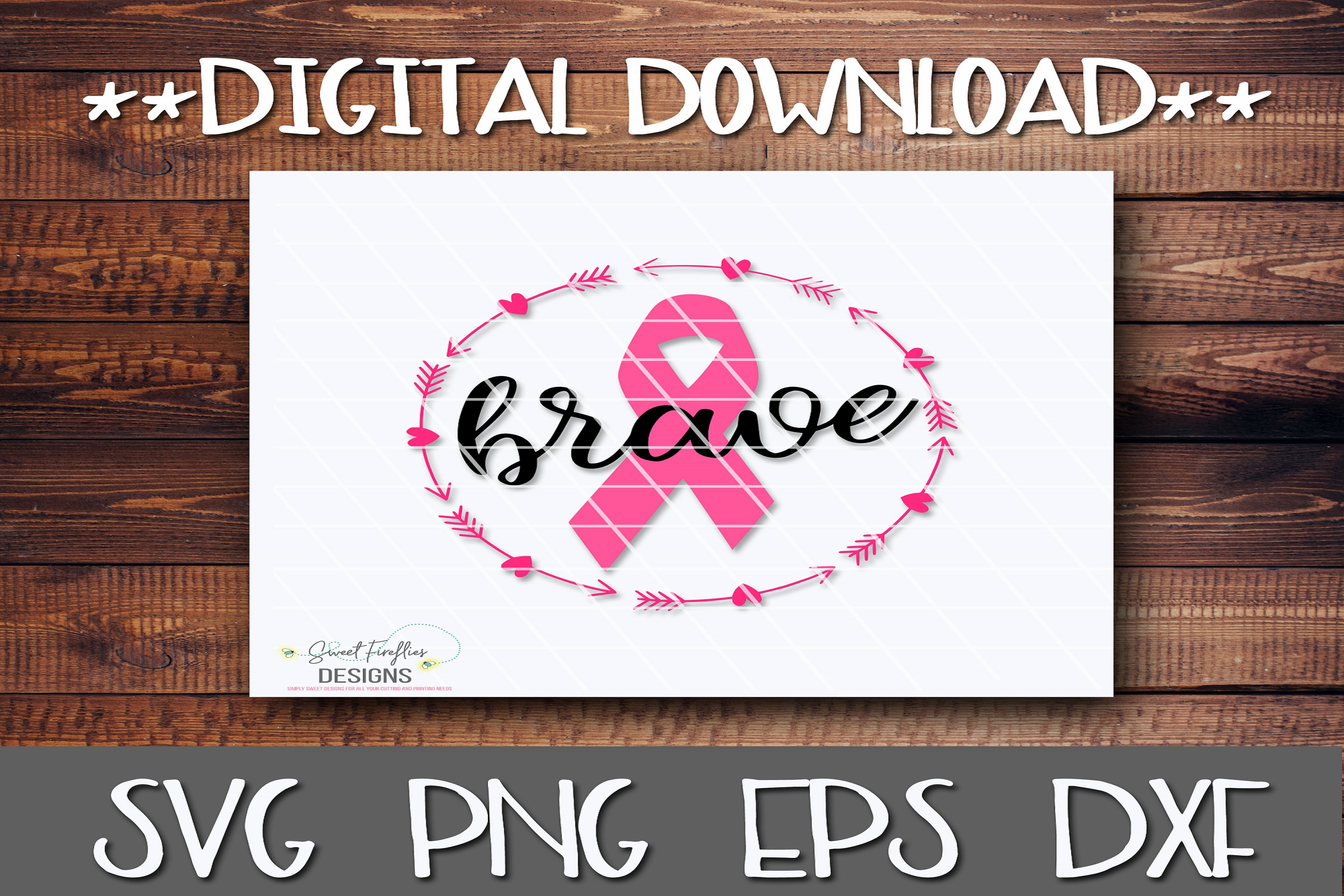 Brave   Breast Cancer Awareness example image 1