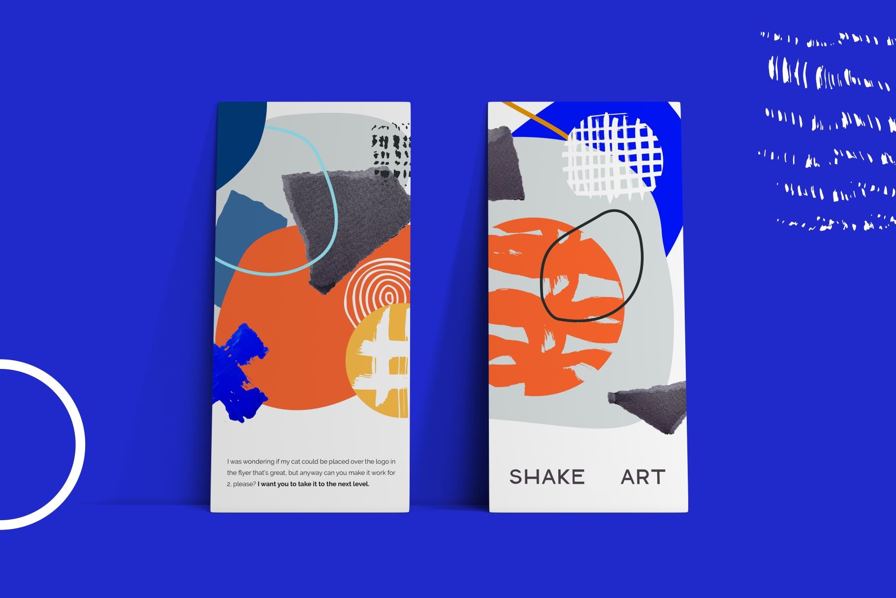 Shake this art! Collage pattern set. example image 2