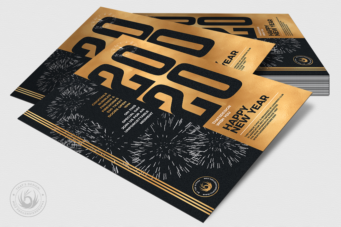New Year Flyer Template V9 example image 4