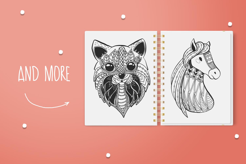 Zen Doodle Animals example image 5