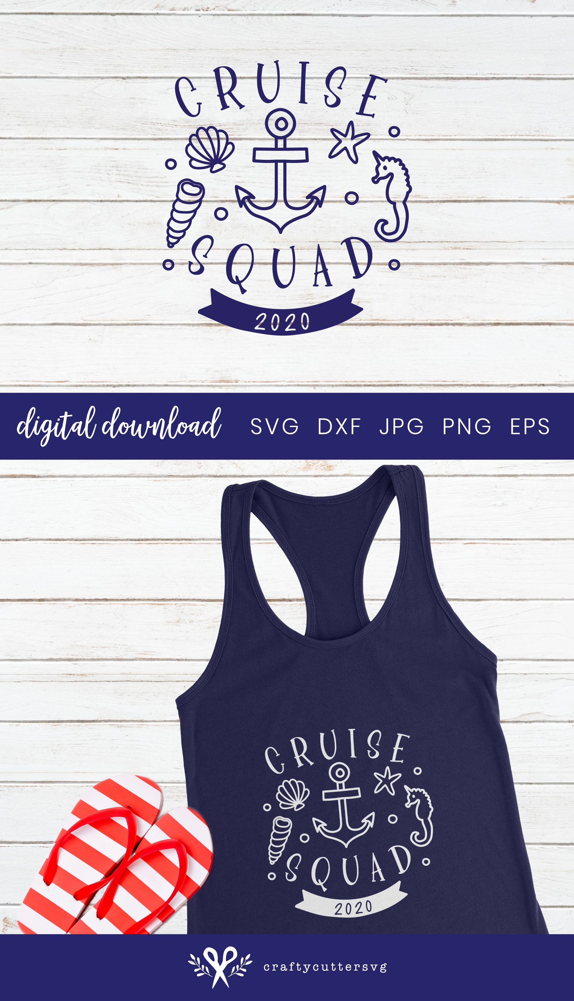 Cruise squad 2020 Svg Cut File Cocktail Shell Anchor Clipart example image 3