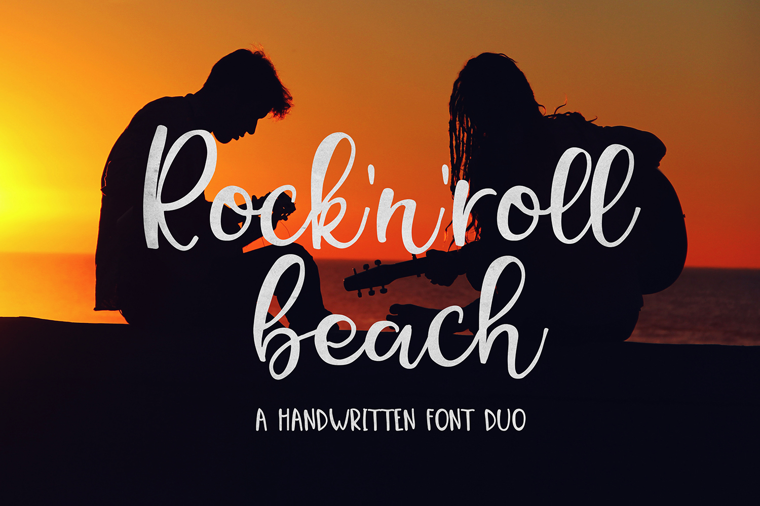 Rock N Roll Beach Font Duo example image 1