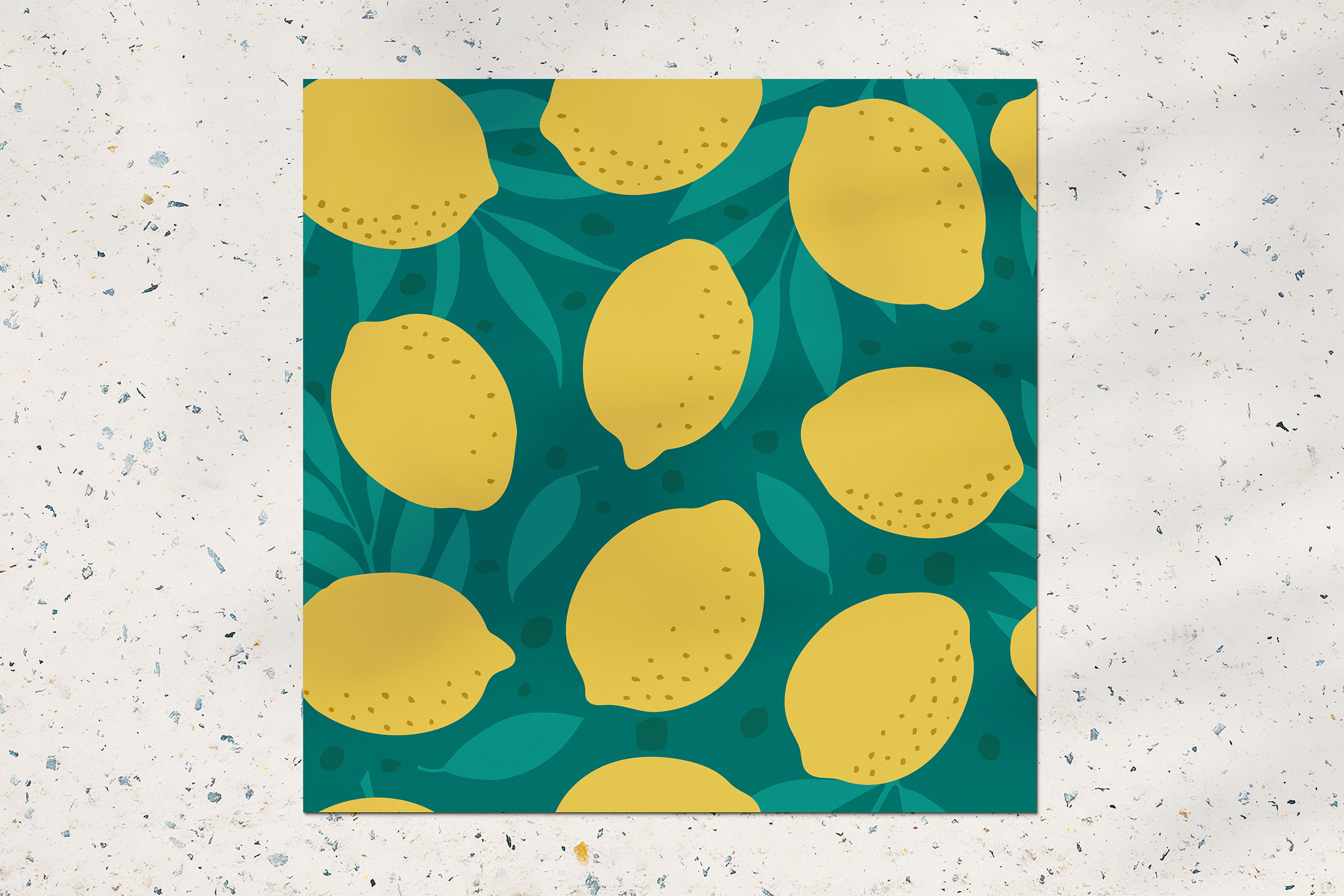 Lemon seamless pattern example image 2