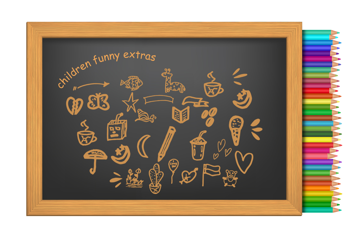 Children Funny Cute Handwritten Font With Extras example image 4