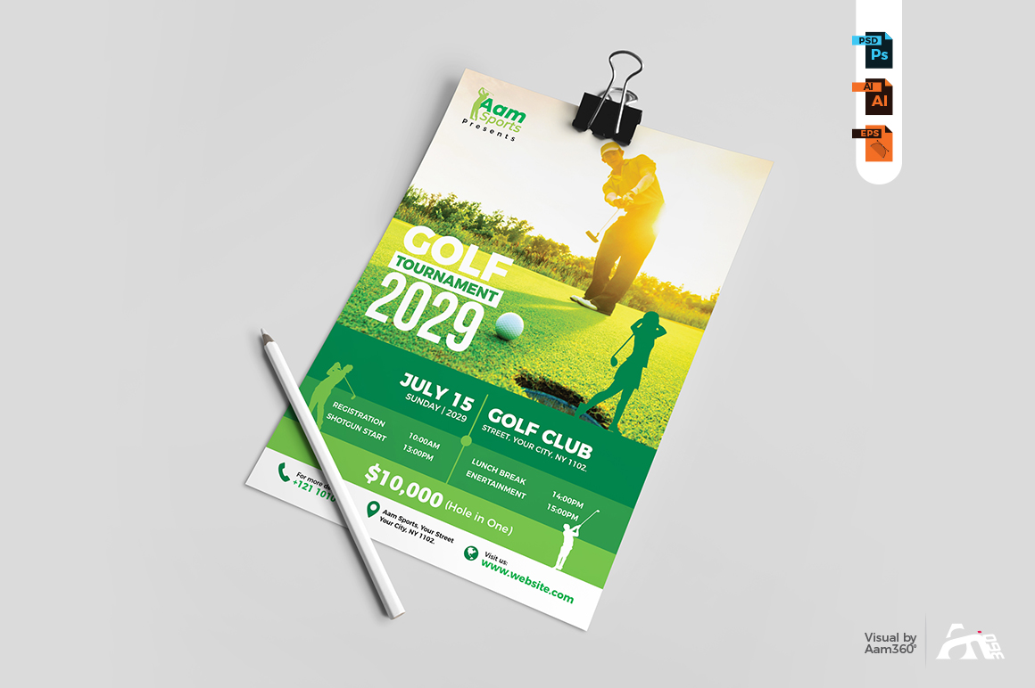 Golf Tournament Flyer example image 3