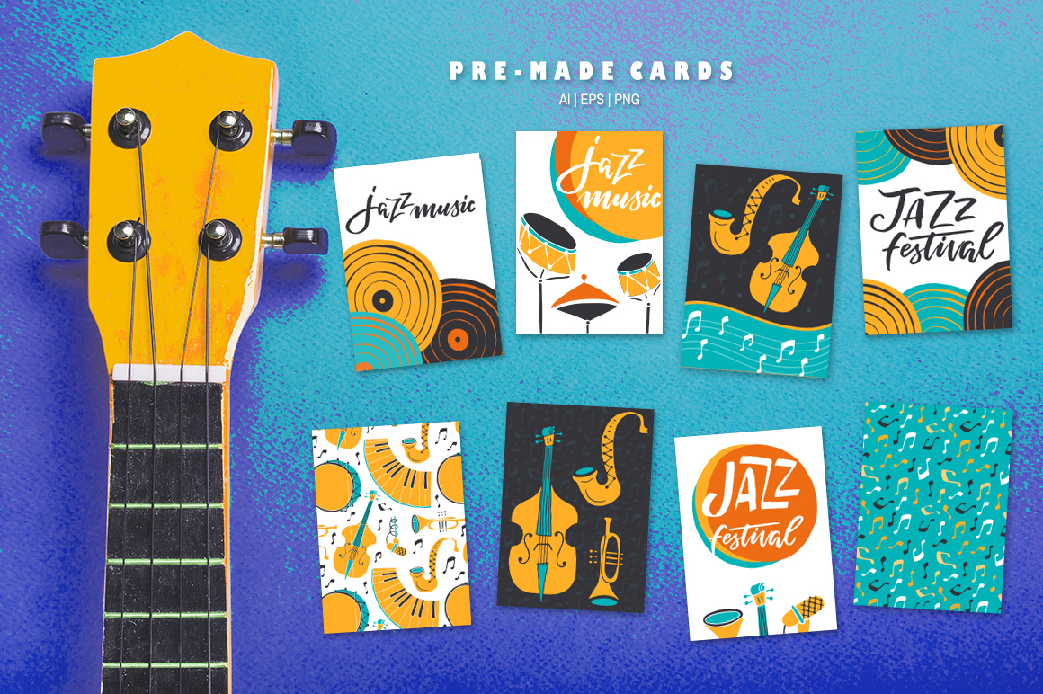 Jazz Music vector collection example image 4