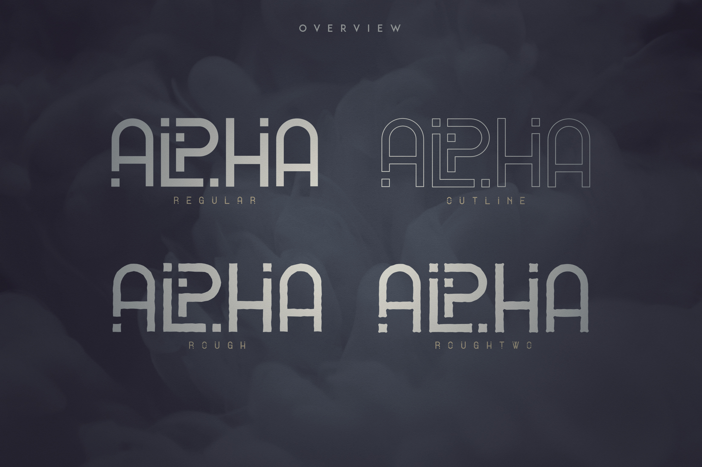 Alpha Display Font - 4 styles example image 2