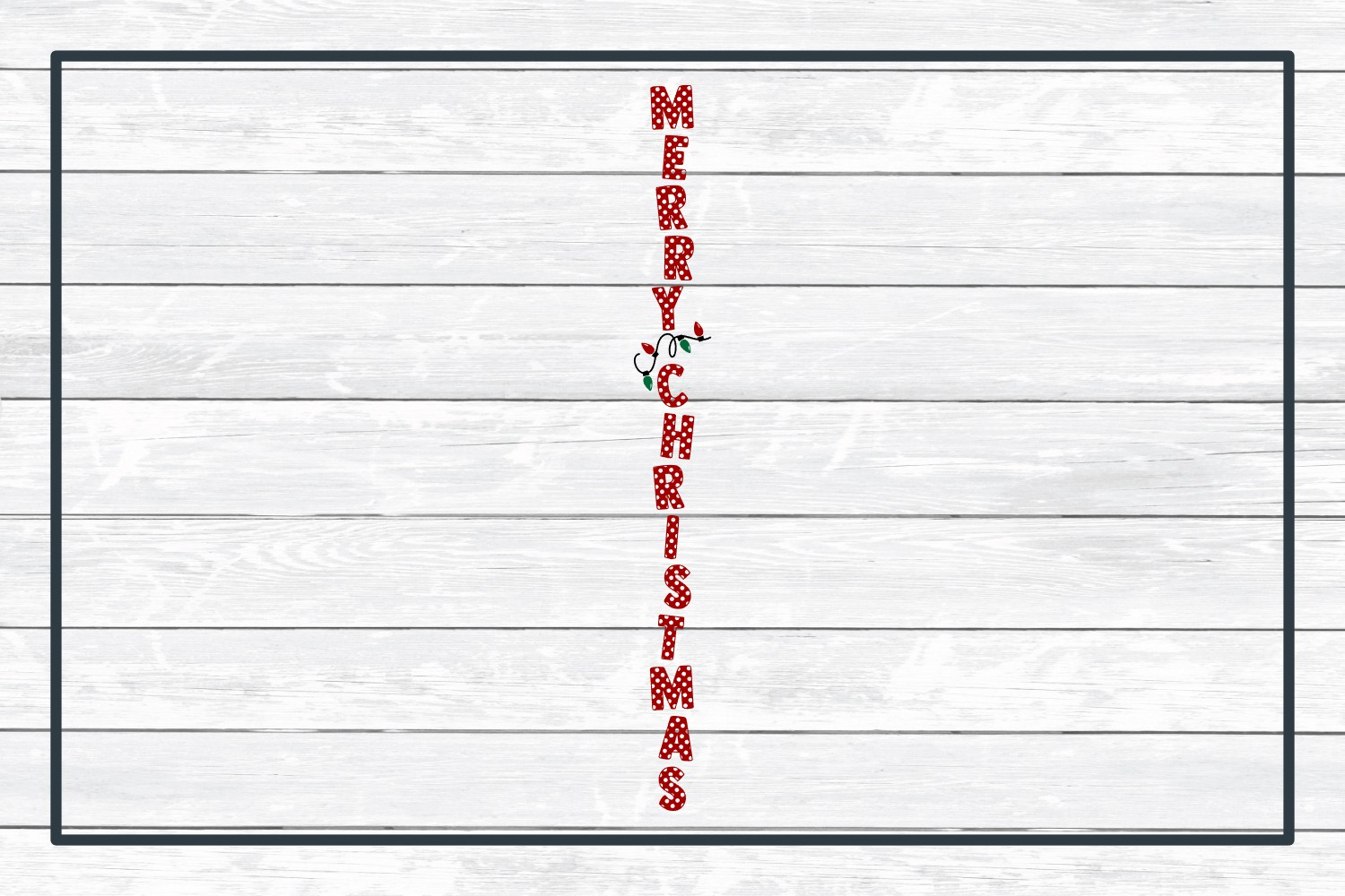 Merry Christmas Holiday Porch Sign Design - Christmas SVG Cu example image 3