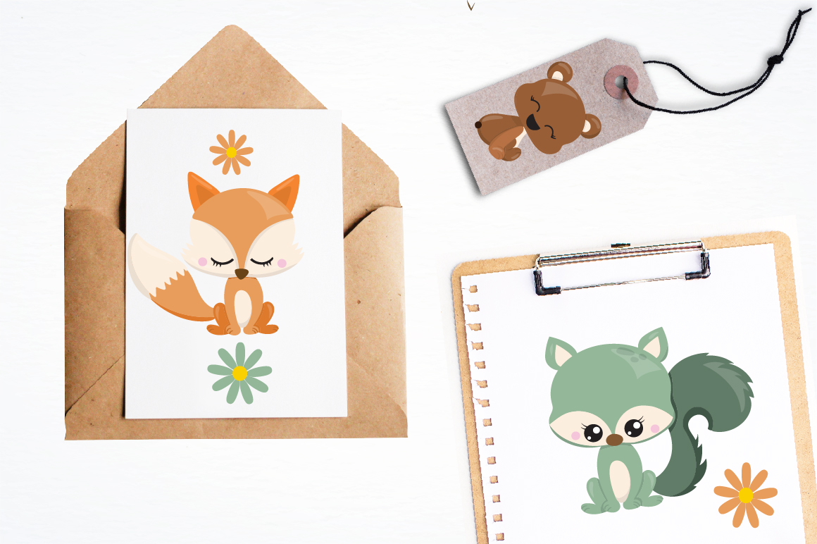 Woodland friends graphics and illustrations example image 4