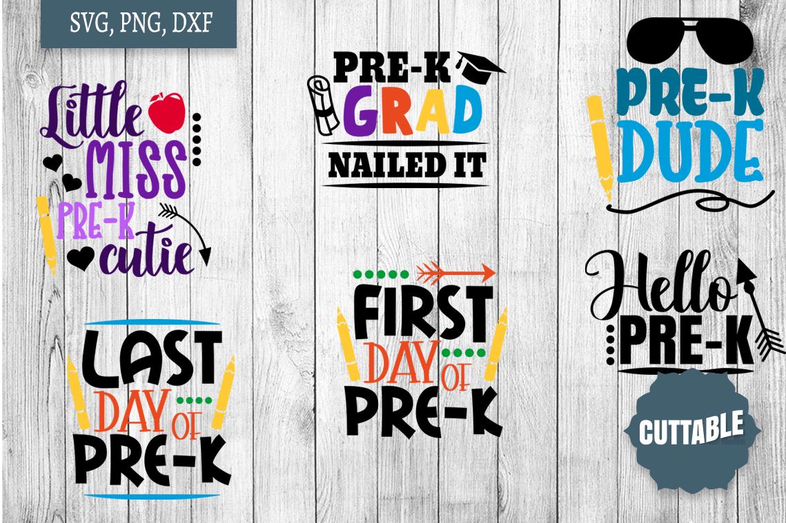 Pre-K cut file quotes, pre-k bundle, Prek SVGs example image 3