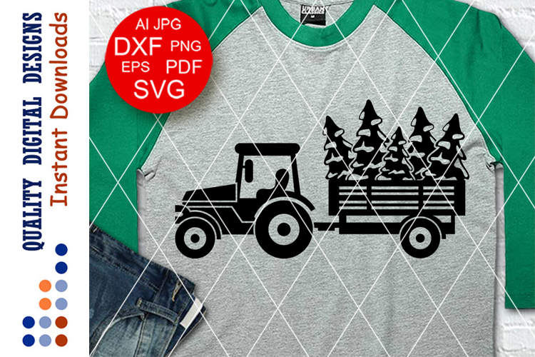 Tractor svg CHRISTMAS Trees png Farmers market sign example image 1