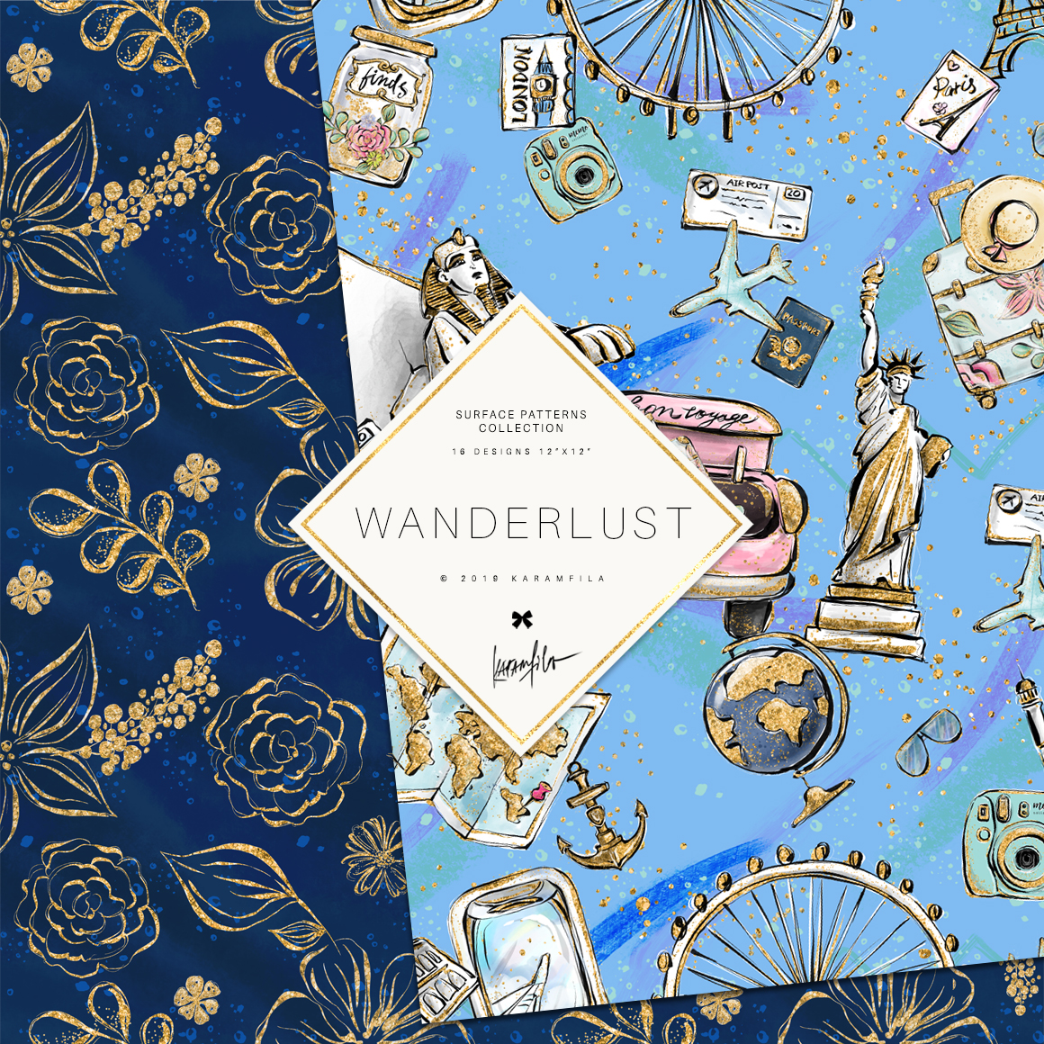 Wanderlust Patterns example image 2