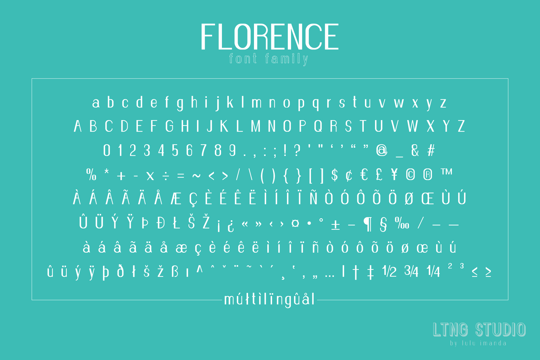FLORENCE font family example image 3