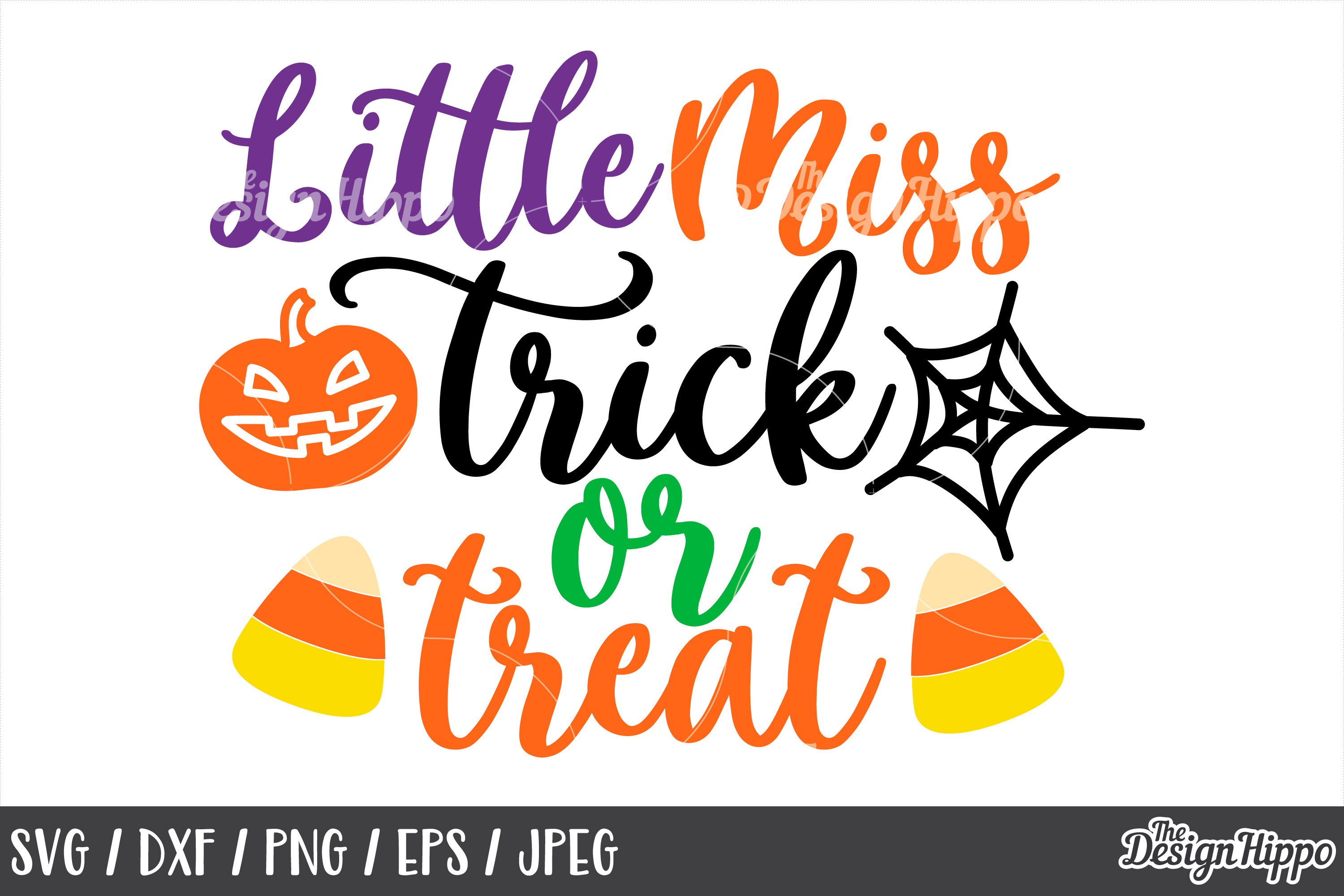 Little miss trick or treat, SVG, Halloween, Candy Corn, SVG example image 1