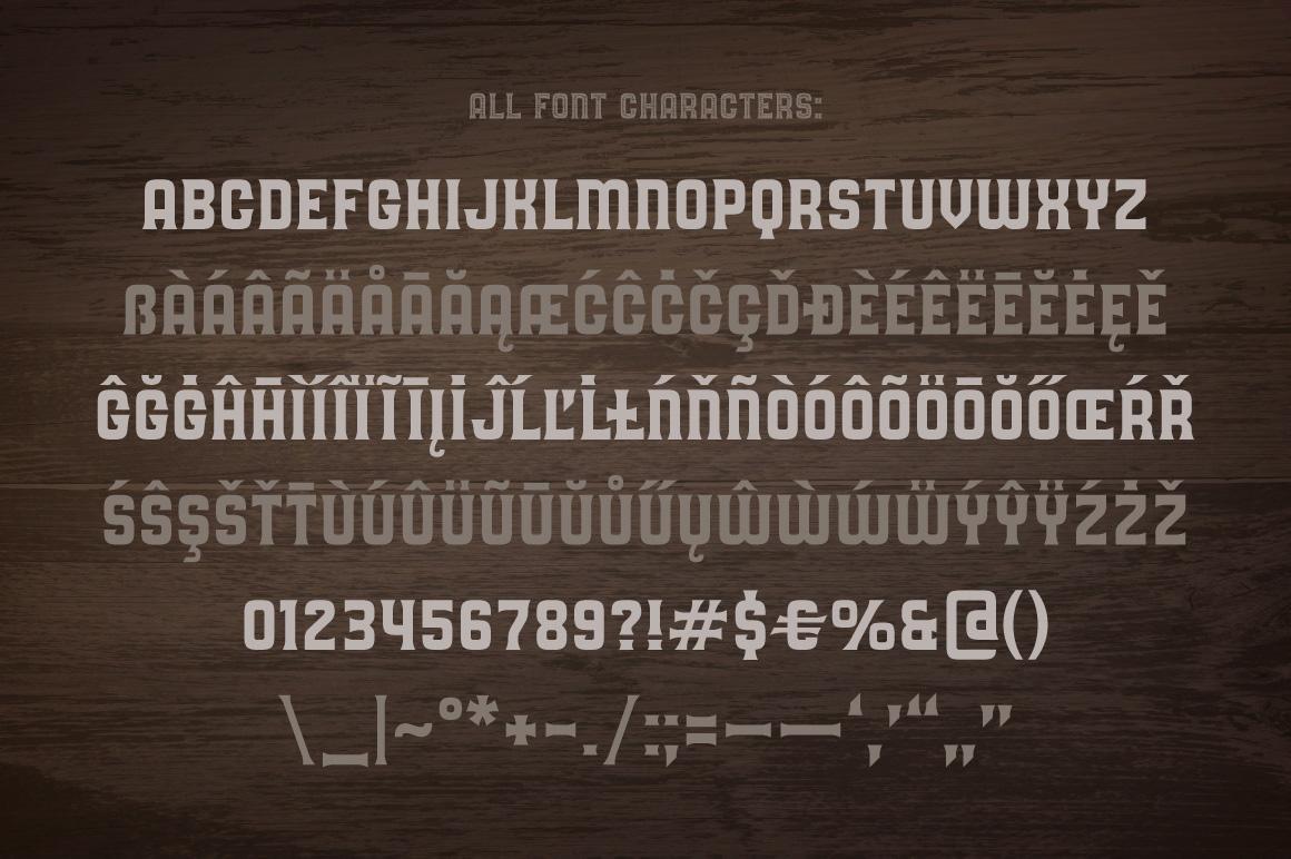 Oak Lumber Font example image 4