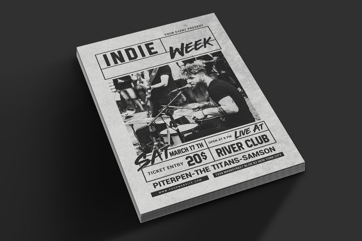 Indie Week Flyer example image 4