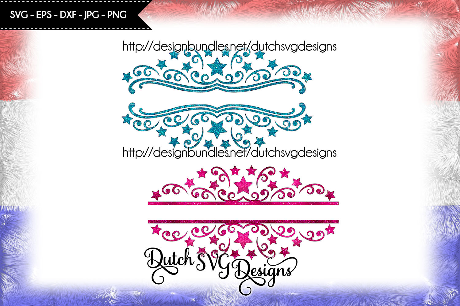 2 Split name cutting files, christmas svg, monogram svg example image 4