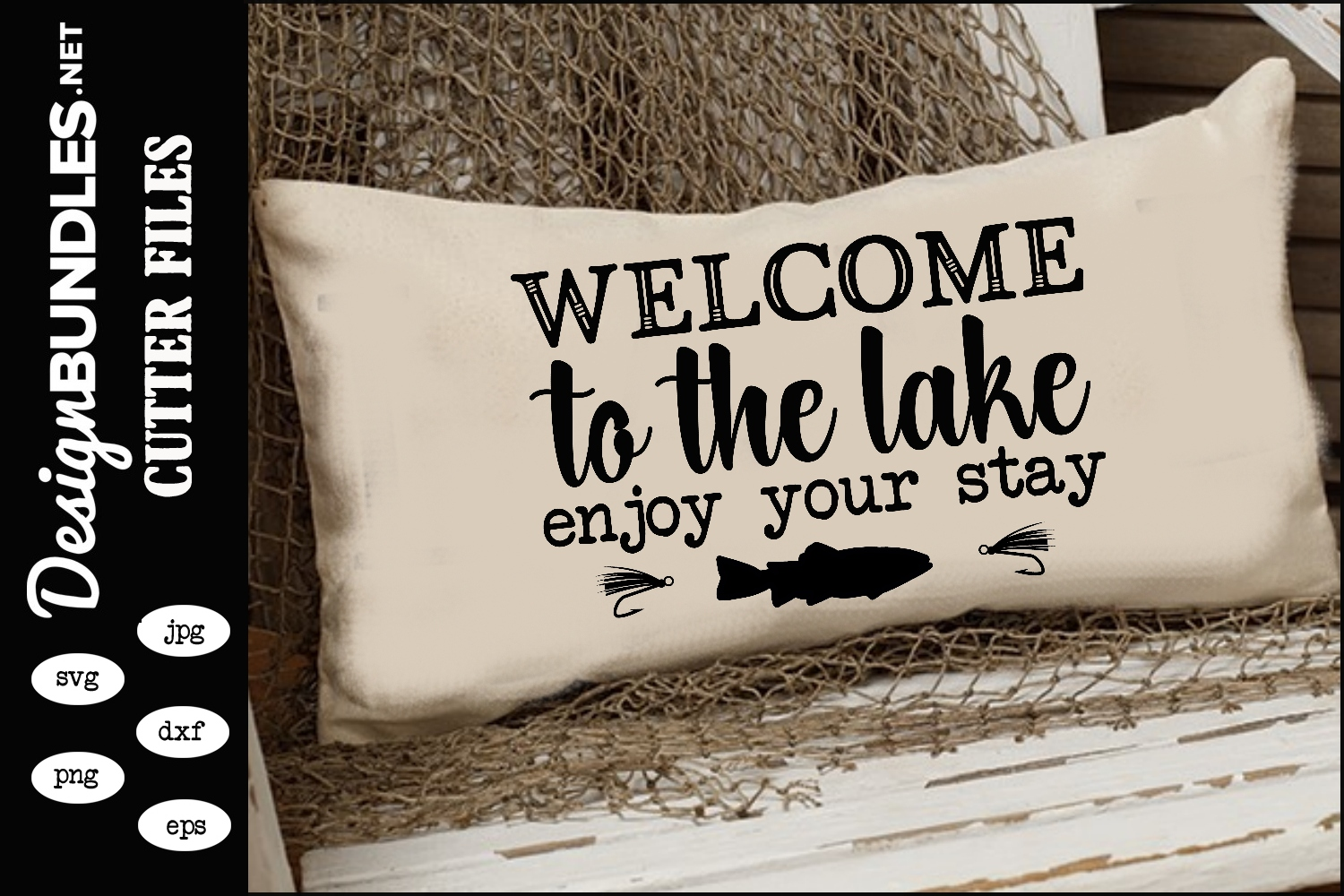 Welcome To The Lake SVG example image 1