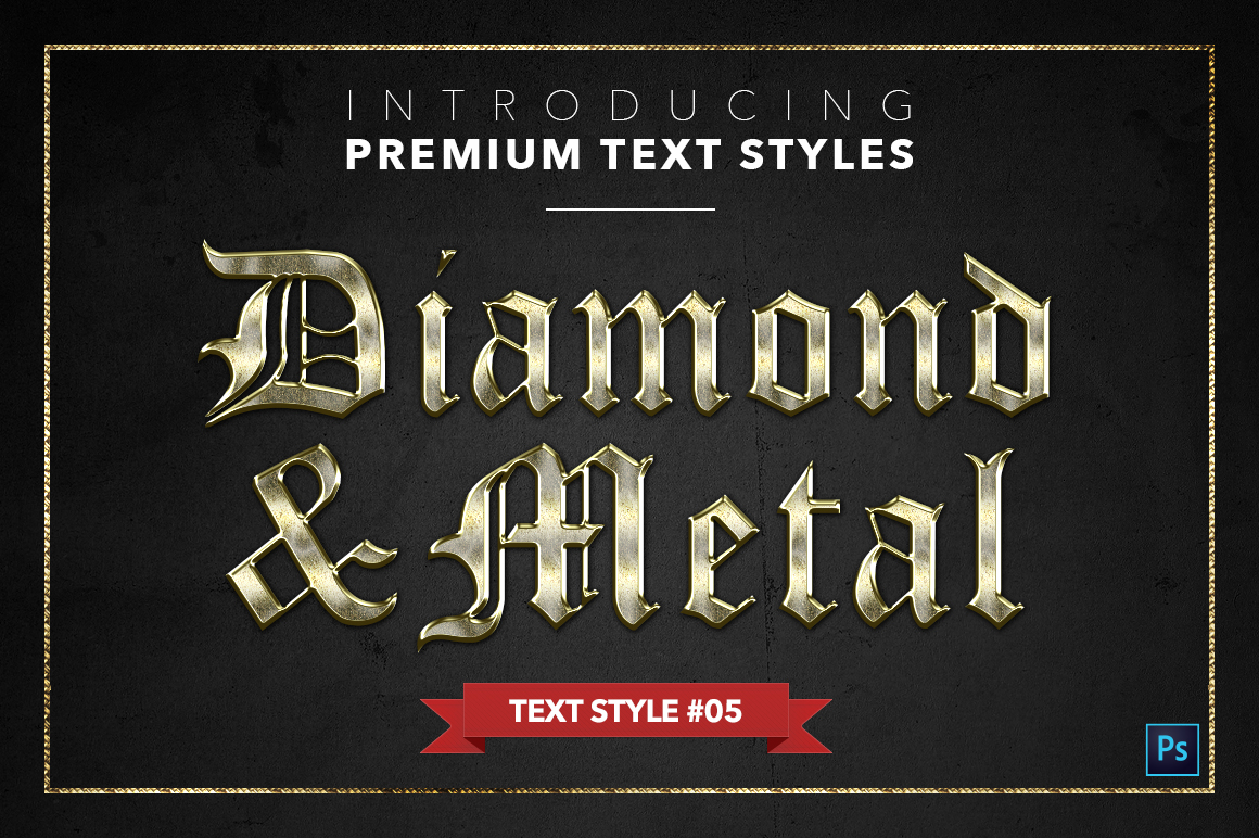 Diamond & Metal #1 - 15 Text Styles example image 6