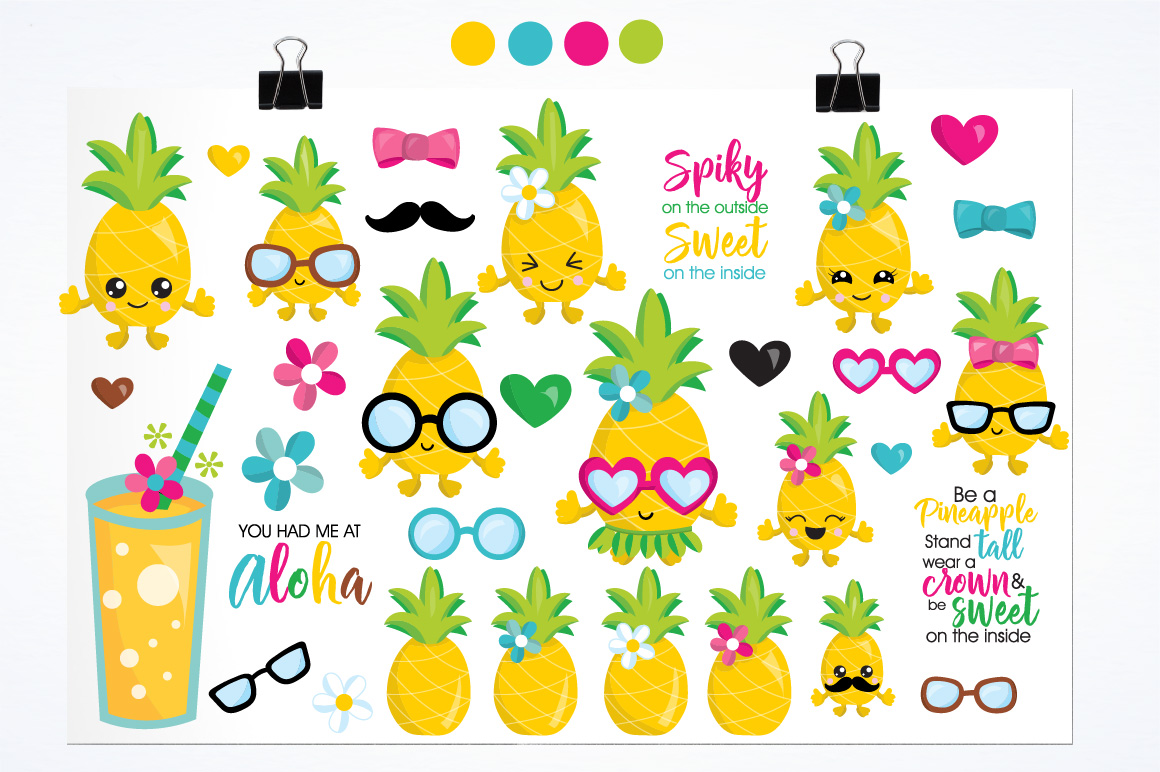 Pineapple party graphics and illustrations example image 2