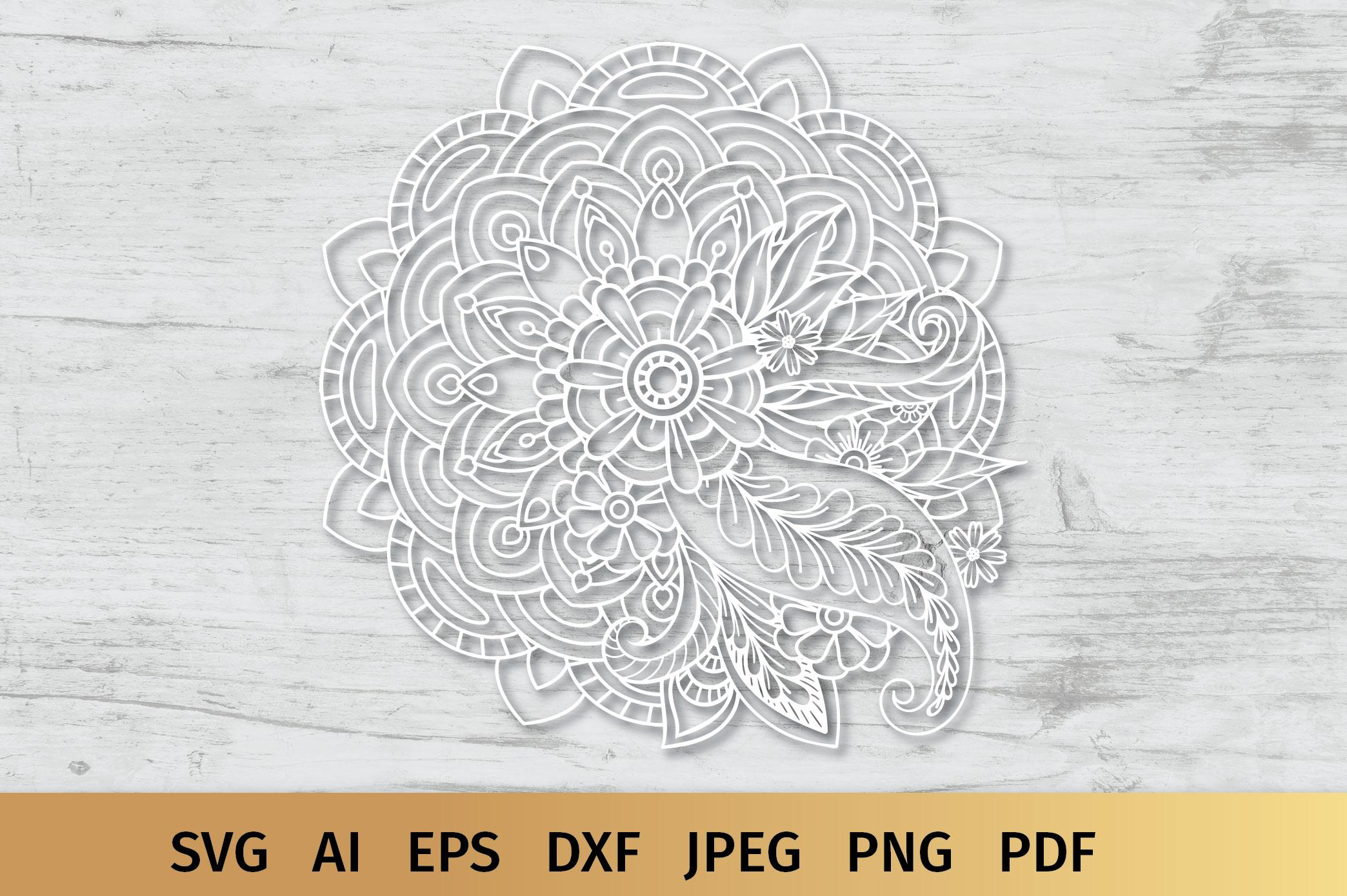 Floral Mandala SVG example image 5