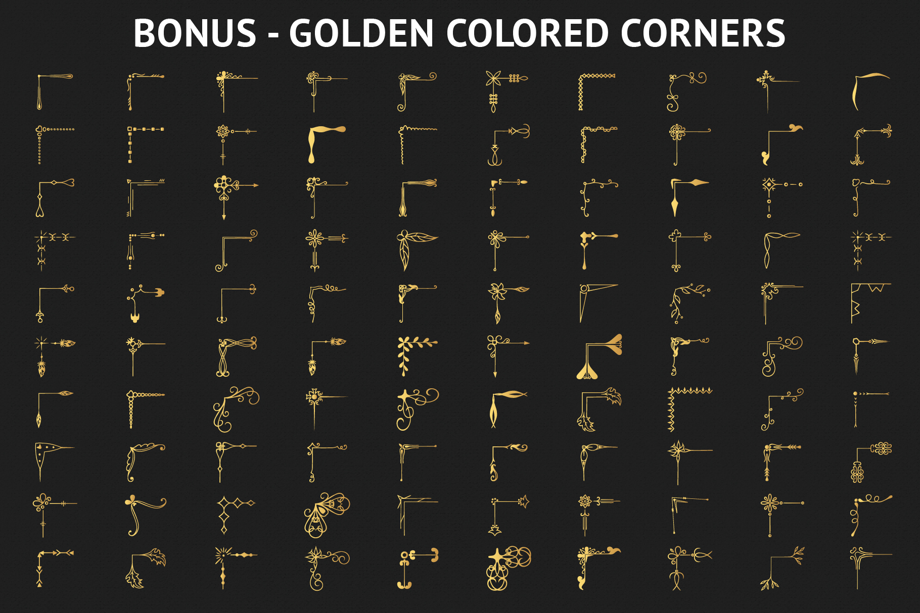 100 Hand Drawn Ornate Corners and Borders example image 7