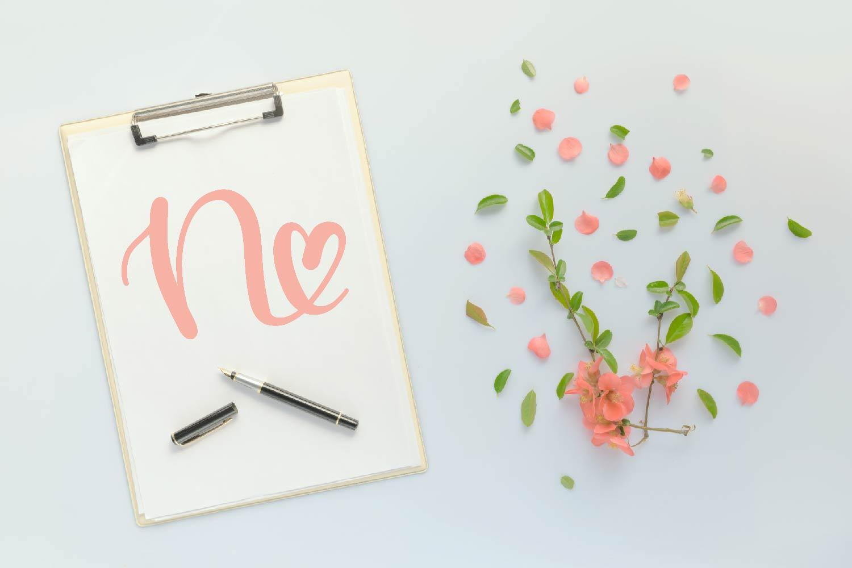 Heart Monogram Font - With Bonus Frame Font! example image 6