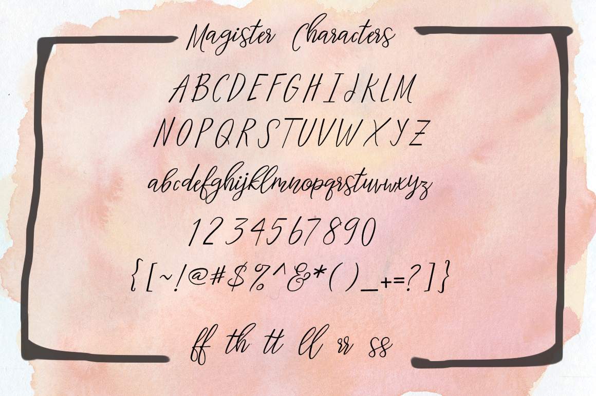 Magister Typeface example image 3