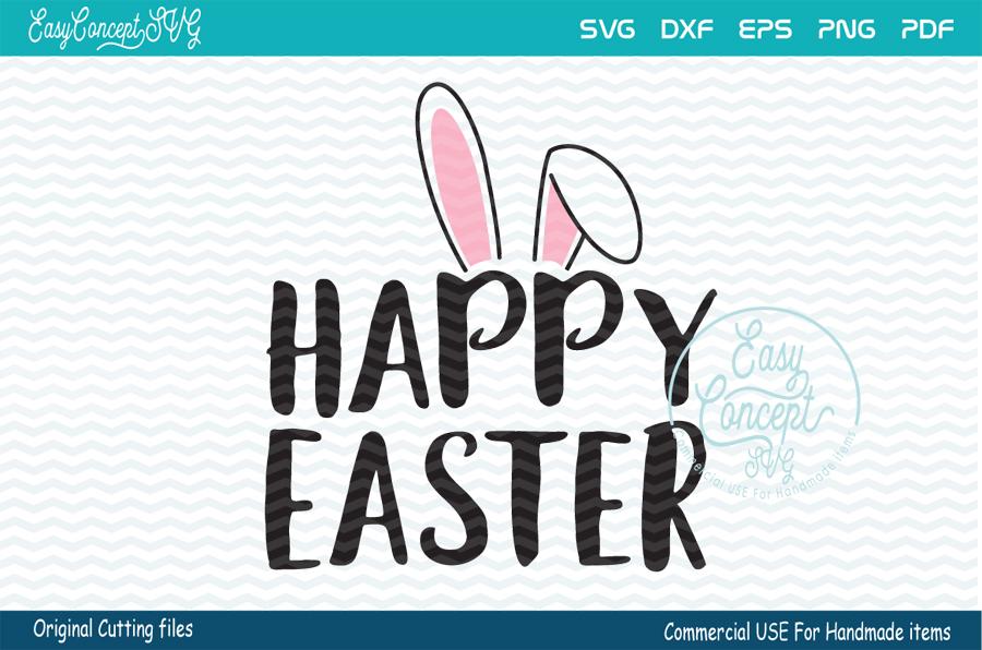 Happy Easter svg, Easter svg, Happy Easter, example image 1