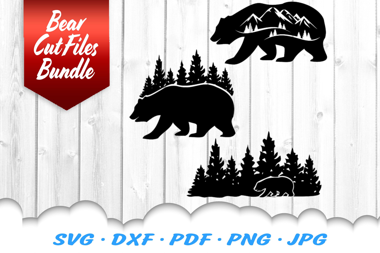 Bear Mountains SVG DXF Cut Files Bundle example image 1