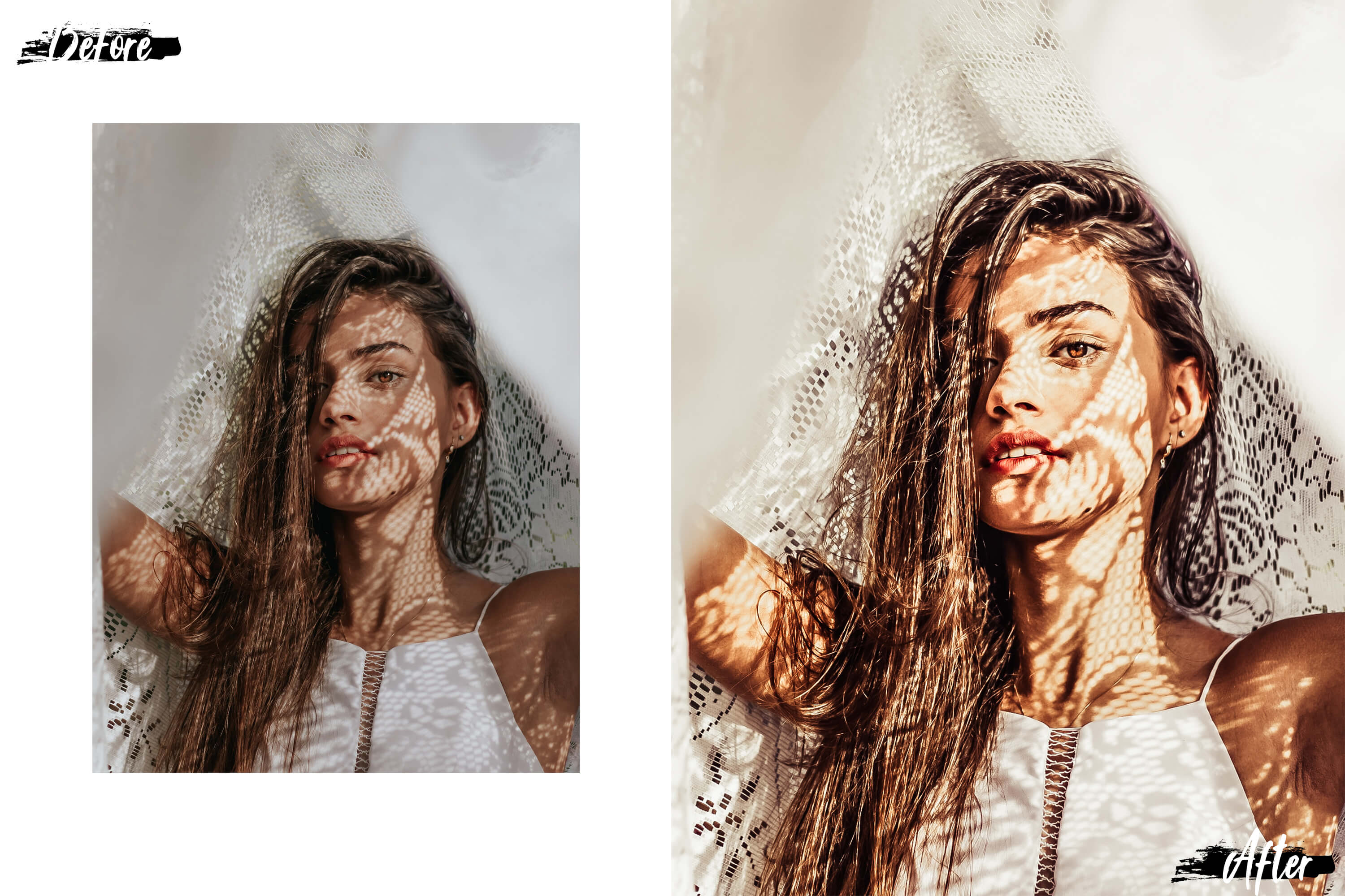 05 Nude Photoshop Actions, ACR and LUT presets, beige photo example image 9
