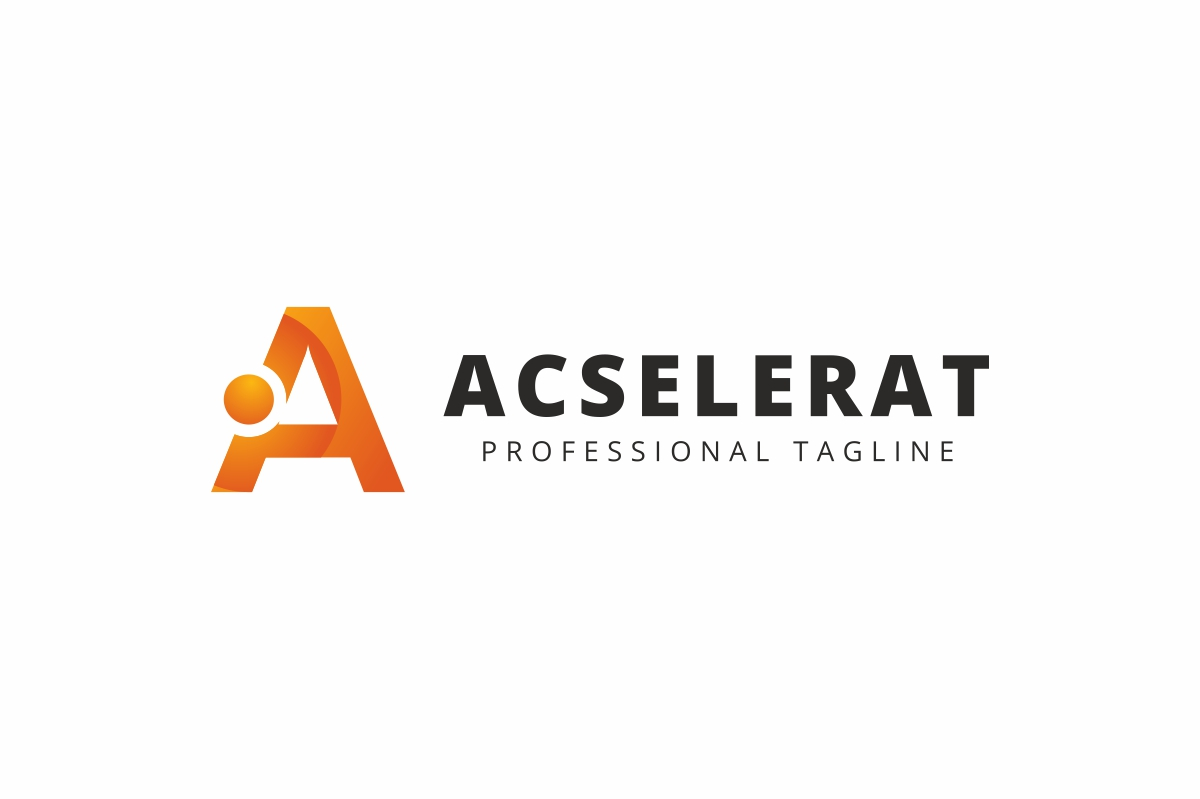 Acselerat A Letter Logo example image 2