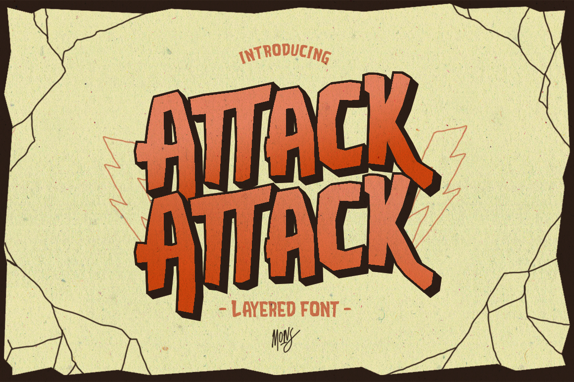 Attack Attack Typeface example image 1