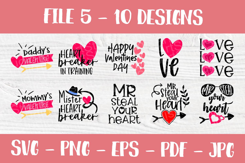 Valentines SVG Bundle| Valentine's Day Cut Files | Funny SVG example image 6
