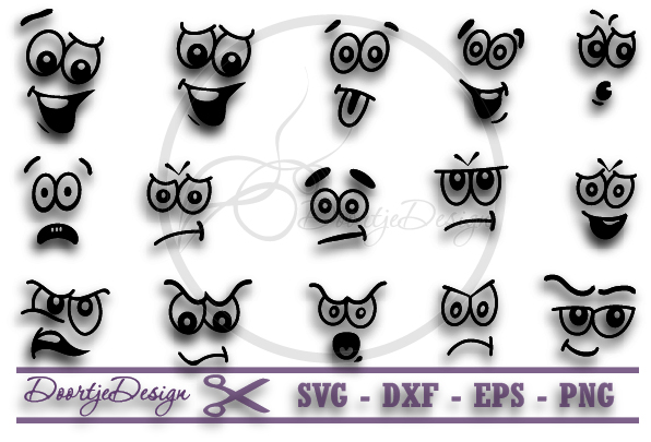 SVG Face vector files example image 1