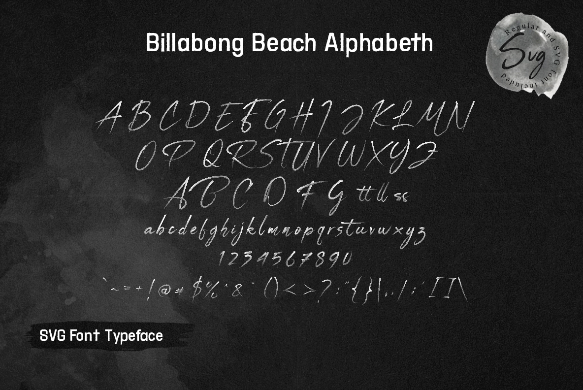 Billabong Beach SVG Font Duo example image 12