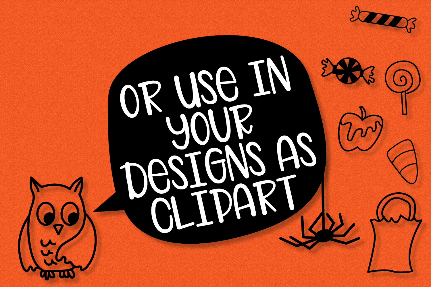 Spooky Squad - A Halloween Dingbat Font example image 5