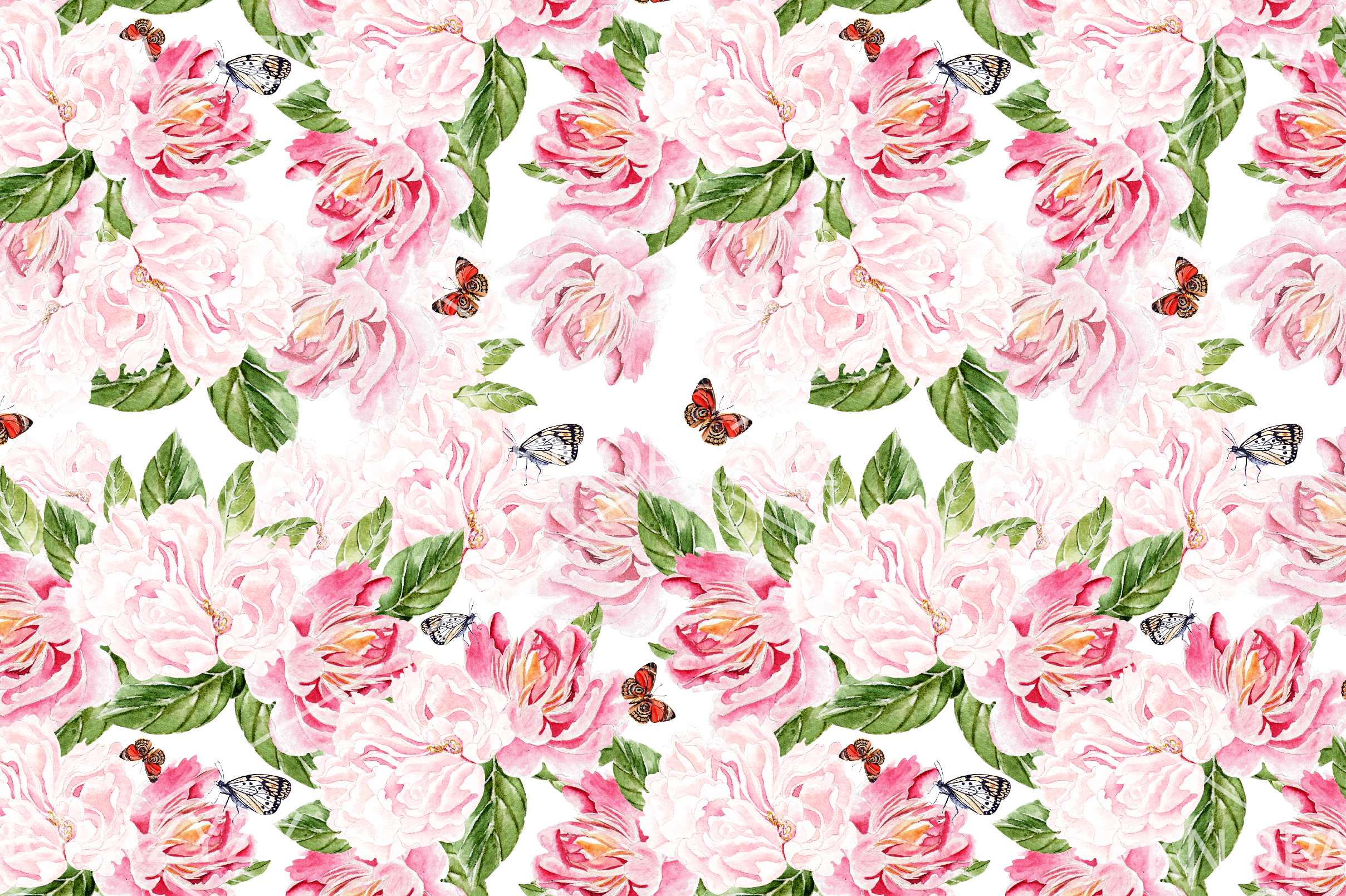 10 Hand Drawn Watercolor Pattern example image 3